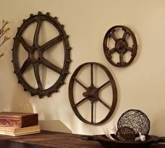 Pottery Barn Rustic Gears Set