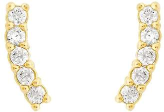 Five and Two jewelry Pave Climber Earrings