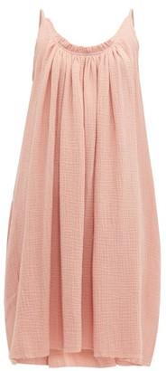 Loup Charmant Gather Shortie Cotton Gauze Dress - Womens - Pink