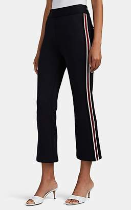 Barneys New York Women's Side-Striped Neoprene Jersey Pants - Black