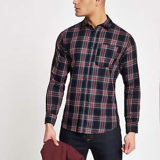 River Island Jack and Jones Originals red check shirt