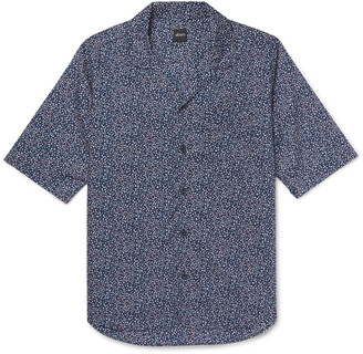 Albam Camp-Collar Printed Cotton-Voile Shirt $245 thestylecure.com
