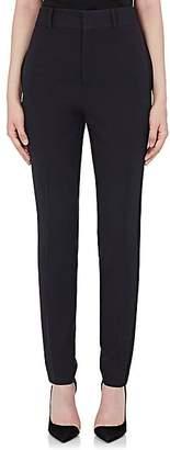 Saint Laurent Women's Wool Tuxedo Crop Pants - Navy