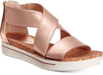 Adrienne Vittadini Claud Sport Flatform Sandals Women's Shoes $79 thestylecure.com