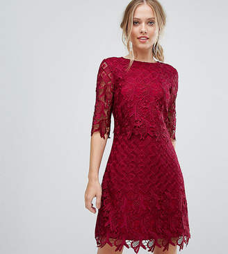 Little Mistress Shift Dress In All Over Lace