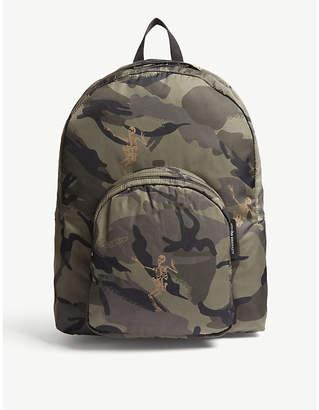 Alexander McQueen Dancing Skeleton Camouflage Backpack