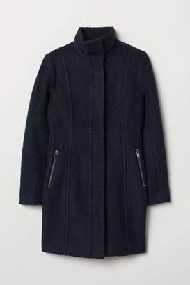 H&M Short Wool-blend Coat - Blue