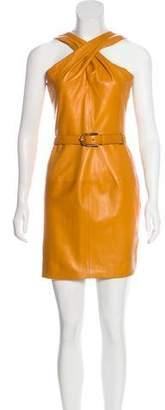 Gucci Sleeveless Leather Dress