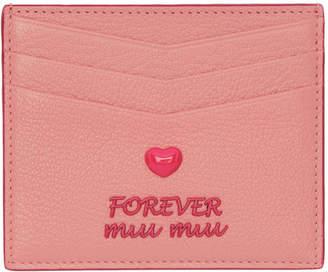 Miu Miu (ミュウミュウ) - Miu Miu ピンク マドラス Love カード ホルダー