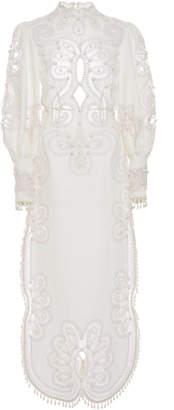 Zimmermann Ninety-Six Silk And Linen-Blend Maxi Dress