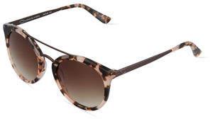 Oscar de la Renta O By Duo-Tone Retro Round Combo Sunglasses