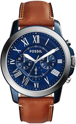Fossil Chronograph Grant Blue Dial Watch