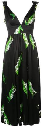 Cynthia Rowley lily print midi-dress