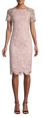 Eliza J Lace Knee-Length Sheath Dress