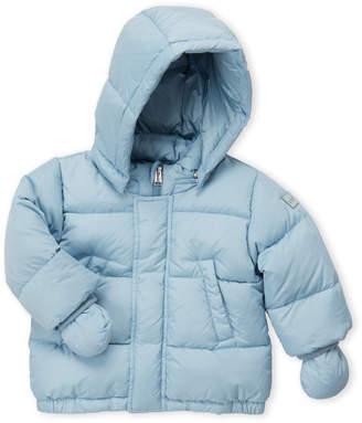 ADD Infant Boys) Light Blue Hooded Down Coat