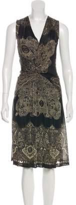 Etro Printed Midi Dress Printed Midi Dress