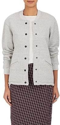 Current/Elliott Women's Cotton-Blend Fleece Bomber Jacket $278 thestylecure.com