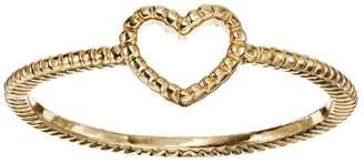 Lauren Conrad Textured Heart Midi Ring