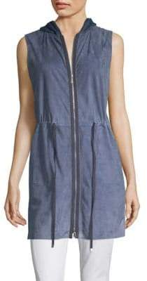 Lafayette 148 New York Salma Knit Combo Vest