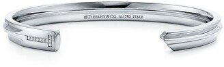 Tiffany & Co. & Co. Keys modern keys narrow cuff in 18k white gold with diamonds, small