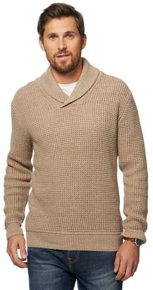 Mantaray Natural Knitted Shawl Neck Jumper