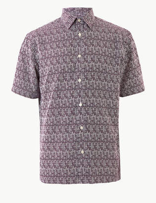 M&S CollectionMarks and Spencer Relaxed Fit Printed Shirt