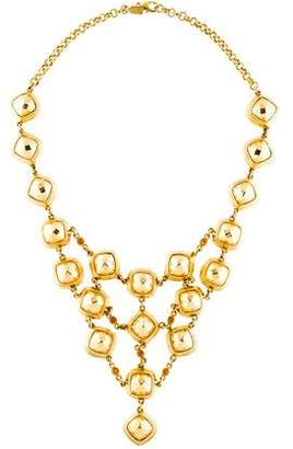 Kara Ross Faceted Square & Glass Collar Necklace