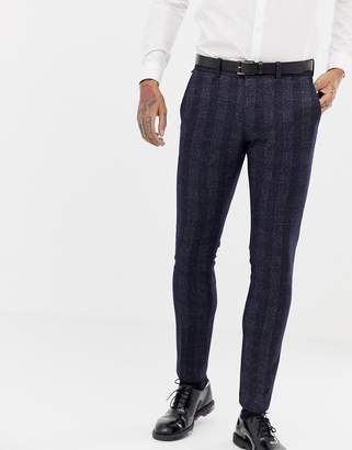 Antony Morato slim fit suit pant in navy check