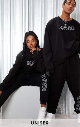 PrettyLittleThing KARL KANI Black Embroidered Joggers