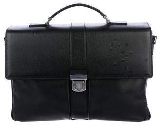 Salvatore Ferragamo Grained Leather Briefcase