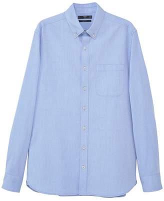 MANGO Men's Slim Fit Oxford Shirt