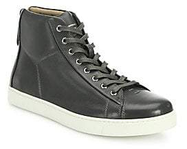 Gianvito Rossi Men's Leather High-Top Sneakers