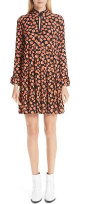 Ganni Print Crepe Dress