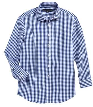 Report Collection Check Print Dress Shirt