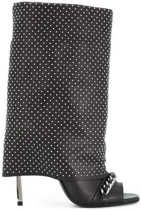 Balmain studded open-toe boots