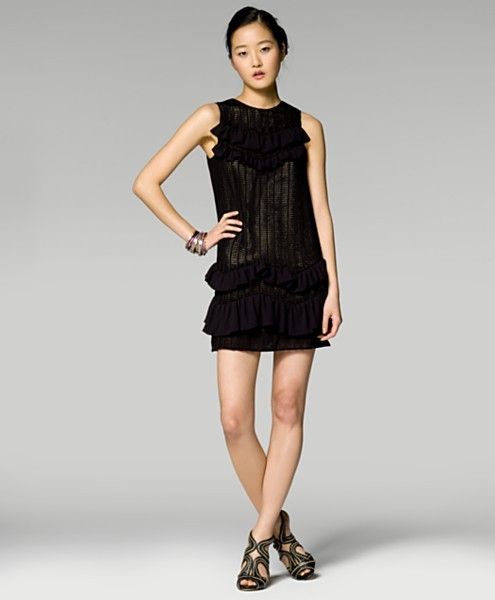3.1 Phillip Lim Chevron Ruffle Dress