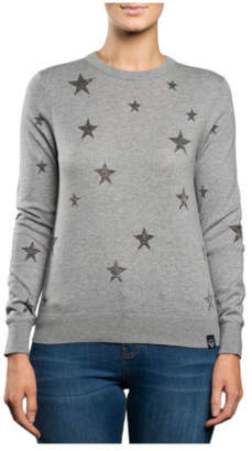 Superdry NEW Star Jacquard Knit Grey