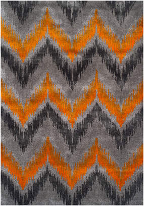 """Dalyn Closeout! Modern Abstracts Chevron Tangerine 5'3"""" x 7'7"""" Area Rug"""