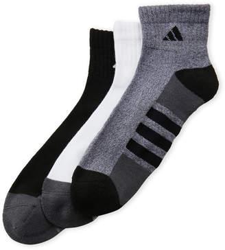 adidas 3-Pack Quarter-Cut Cushioned Socks