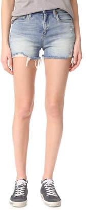 Blank Denim Min Mischief Cutoff Shorts $78 thestylecure.com