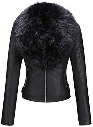 Bellivera Women's Faux Leather Short Jacket