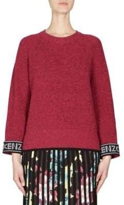 Kenzo Logo Cuff Knit Sweater
