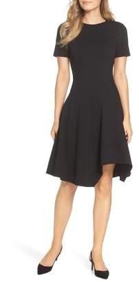 Eliza J Drop Waist Fit & Flare Dress (Regular & Petite)