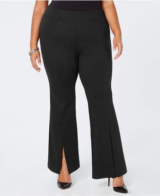 INC International Concepts I.n.c. Plus Size Ponte-Knit Slit-Front Pants