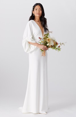 By Watters Fields Plunge Wedding Dress