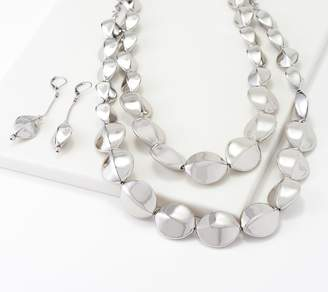 Linea By Louis Dell'olio by Louis Dell'Olio Tortue Bead Necklace & Earring Set