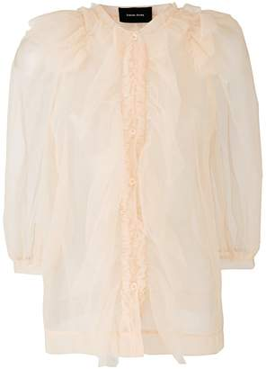 Simone Rocha tulle button shirt
