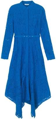 Ganni Cotton Lace Maxi Dress in Lapis Blue