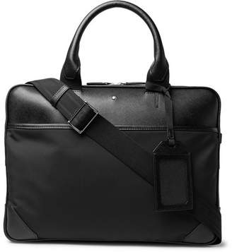 Montblanc Sartorial Jet Nylon-Panelled Cross-Grain Leather Briefcase - Men - Black