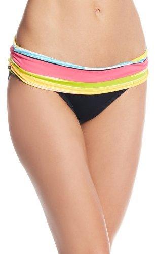 Anne Cole Women's Painterly Stripe Foldover Mid-Rise Bikini Bottom